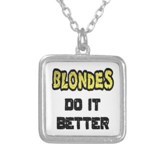 Blondes Do It Better Square Pendant Necklace