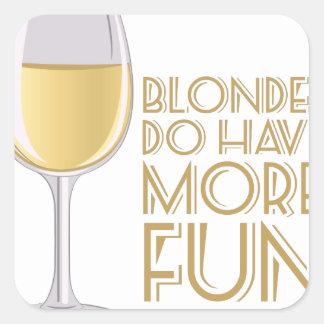 Blondes More Fun Square Sticker