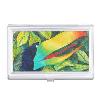 """""""Bloo Bird"""" Art by Mike Quinn Business Card Holder"""