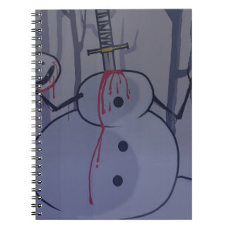 blood and ice tshirt desgin1 notebook