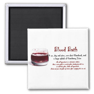 Blood Bath drink recipe Square Magnet