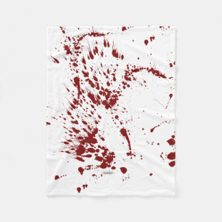 Blood blanket splattered