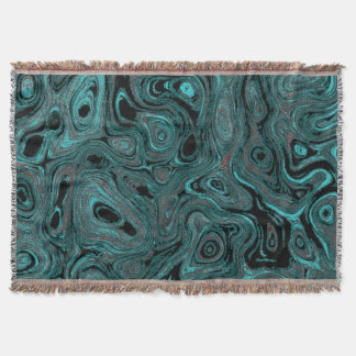 Blood Blue Gray Rose Fire Stone I Throw Blanket