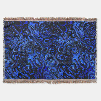 Blood Blue Water Fire Stone Throw Blanket