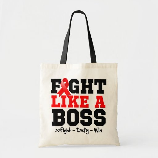 Blood Cancer Fight Like a Boss Tote Bags