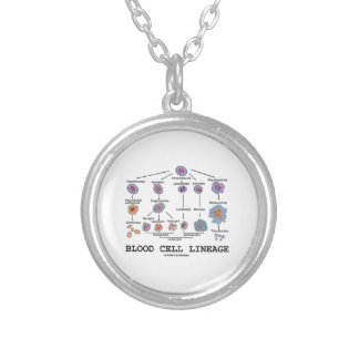 Blood Cell Lineage (Biology Health Medicine) Round Pendant Necklace