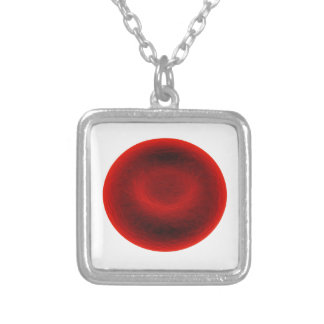 Blood cell silver plated necklace