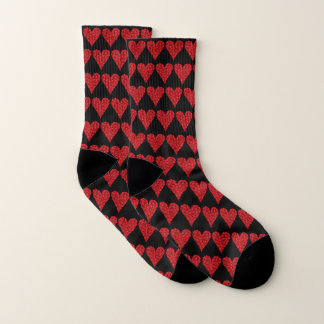 Blood Cells Heart Pattern Socks