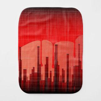 Blood City Grunge Burp Cloth