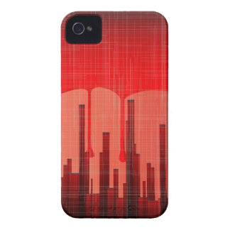 Blood City Grunge Case-Mate iPhone 4 Cases