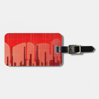 Blood City Grunge Luggage Tag