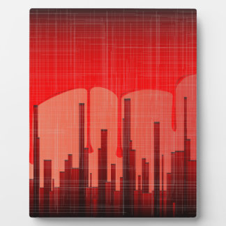 Blood City Grunge Plaque