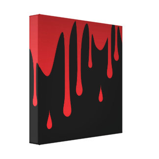 Blood dripping canvas print