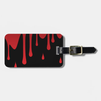 Blood dripping luggage tag