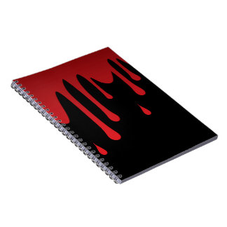 Blood dripping notebooks