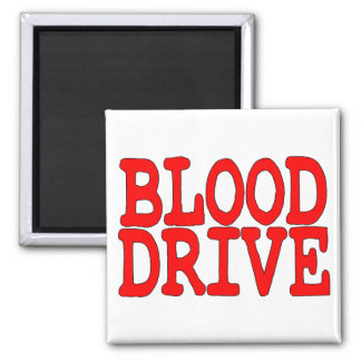 Blood Drive Square Magnet