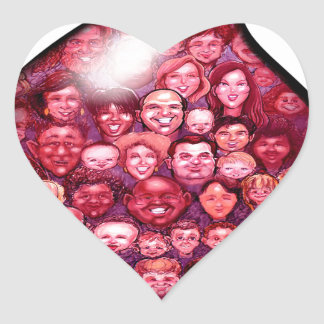 Blood Drop Heart Sticker