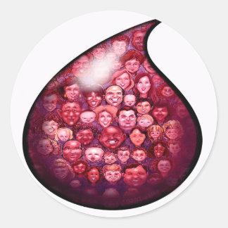 Blood Drop Round Sticker