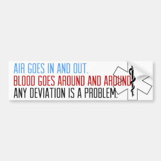 Blood goes around and around bumper sticker
