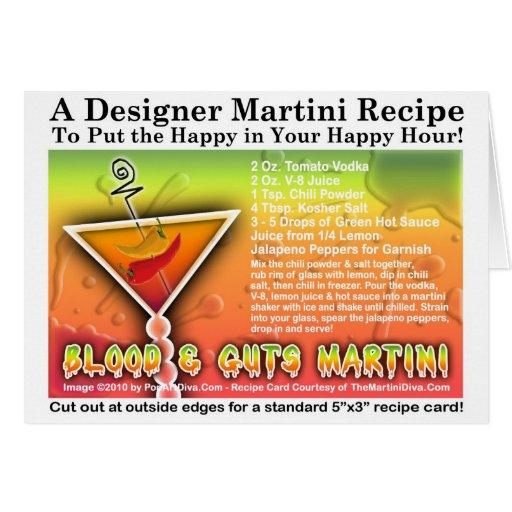 Blood & Guts Halloween Martini Recipe Card