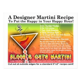 Blood & Guts Halloween Martini Recipe Postcard