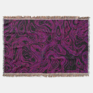 Blood Hot Pink Fire Stone I Throw Blanket