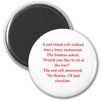 blood joke 2 inch round magnet