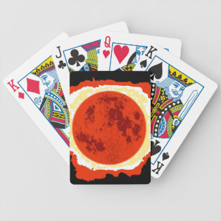 Blood Moon Eclipse Bicycle Playing Cards