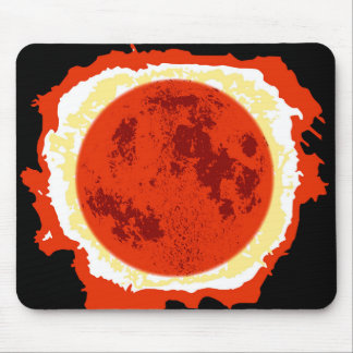 Blood Moon Eclipse Mouse Pad