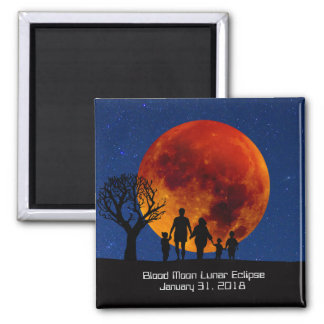 Blood Moon Lunar Eclipse 2018 Magnet
