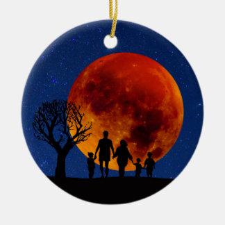 Blood Moon Lunar Eclipse Ceramic Ornament