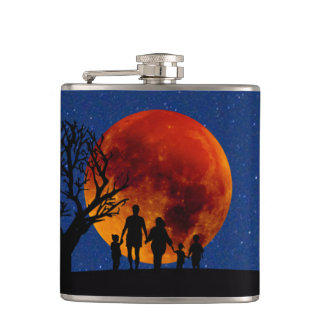 Blood Moon Lunar Eclipse Hip Flask