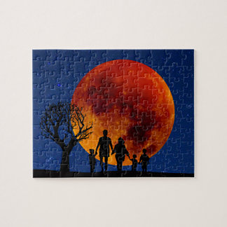 Blood Moon Lunar Eclipse Jigsaw Puzzle