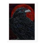 Blood Moon Raven Postcard