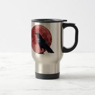 Blood Moon with Crow Travel Mug