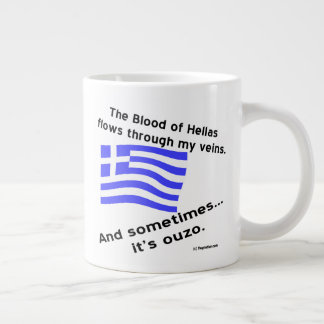 Blood of Hellas and Ouzo Right Large Coffee Mug