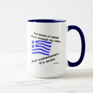 Blood of Hellas and Ouzo Times 2 Mug
