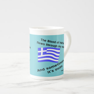 Blood of Hellas and Ouzo Times 2 Tea Cup