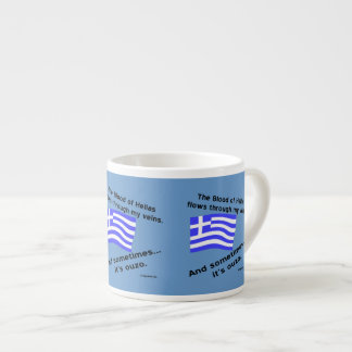 Blood of Hellas and Ouzo Times 3 Espresso Cup