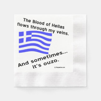 Blood of Hellas & Ouzo Paper Napkin