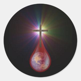 Blood of Jesus Classic Round Sticker