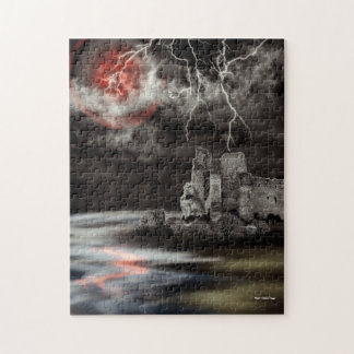 Blood On The Moon Gothic Landscape Jigsaw Puzzle