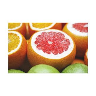 Blood Orange Citrus Fruit Canvas Print