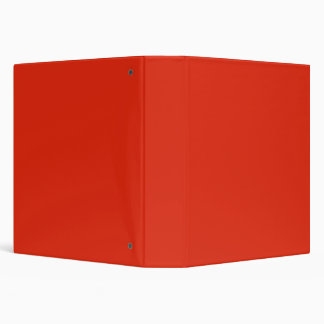 Blood Orange Red Solid Trend Color Background Binders