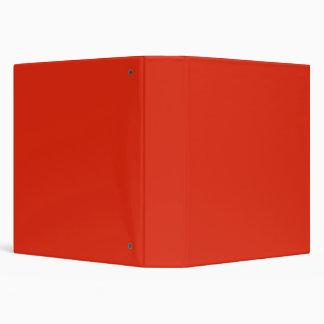 Blood Orange Red Solid Trend Color Background Binders