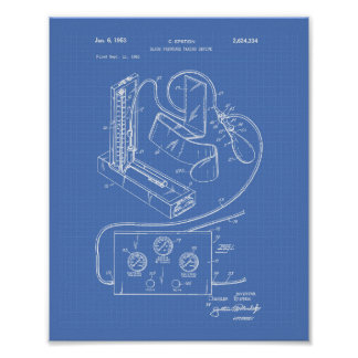 Blood Pressure 1951 Patent Art Blueprint Poster