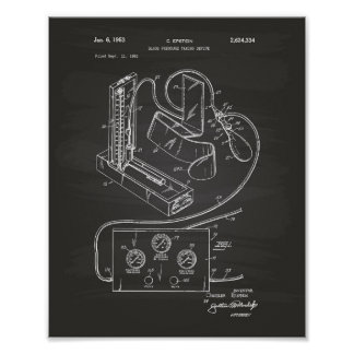 Blood Pressure 1951 Patent Art Chalkboard Poster