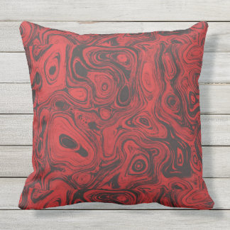 Blood Red Fire Stone 1 SDL Throw Pillow