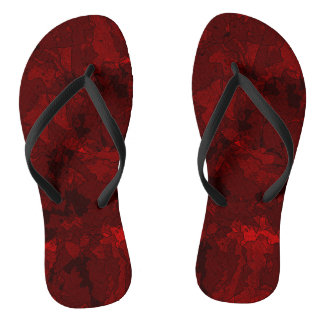 Blood Red Flip Flops
