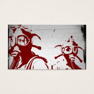 Blood Red Gas Masks Business Card